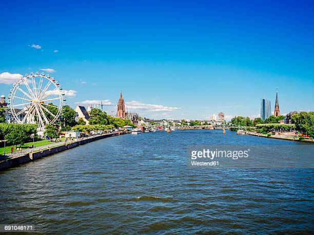 Germany, Frankfurt, view to the old city and Main River