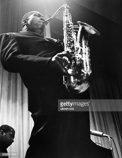 Germany Frankfurt/Main jazz musician John Coltrane giving a concert