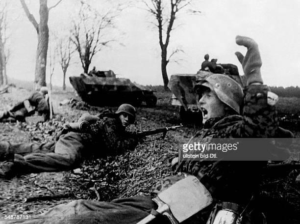 Germany Free State 2WW Pommerania warzone eastern front FebApr1945 defensive battle in southwest farther pomerania German positions alongside a...