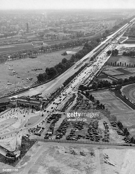 Germany Free State Prussia Berlin Berlin Aerial view of the Avus motorway undated Photographer SeidenstueckerVintage property of ullstein bild