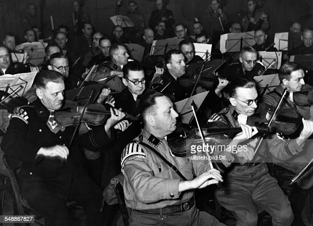 Germany Free State Prussia Berlin Berlin An orchestra of the SS and SA during a concert for the National Socialist Peoples Welfare Organization in...