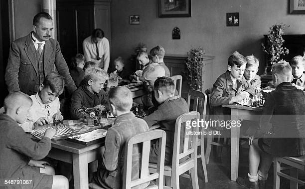 Germany Free State Prussia Berlin Berlin community Orphanage in BerlinRummelsburg boys playing chess 1931 Photographer Frankl Published by...