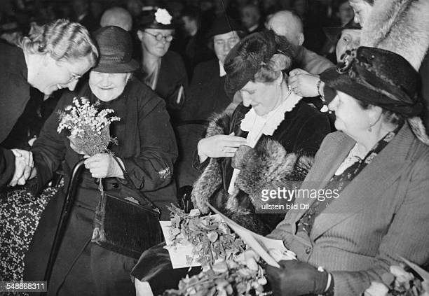 Germany Free State Prussia Berlin Berlin first conferment of the Mother's Cross at the Mother's Day Magda Goebbels during the ceremony in...