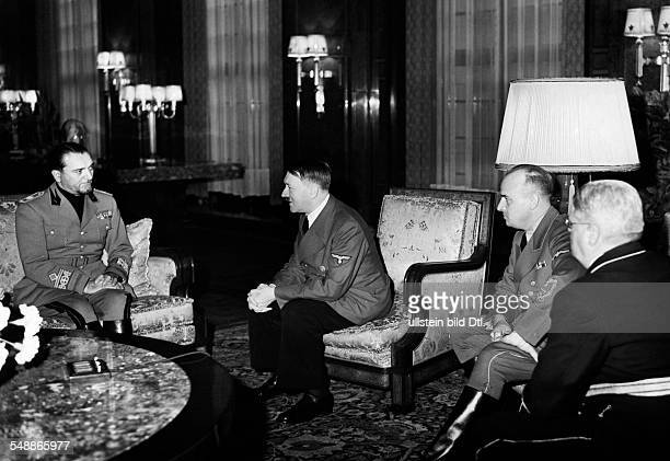 Germany Free State Prussia Berlin Berlin Foreign Affairs Germany/Italy Adolf Hitler in conversation with the Italian justice minister Count Dino...