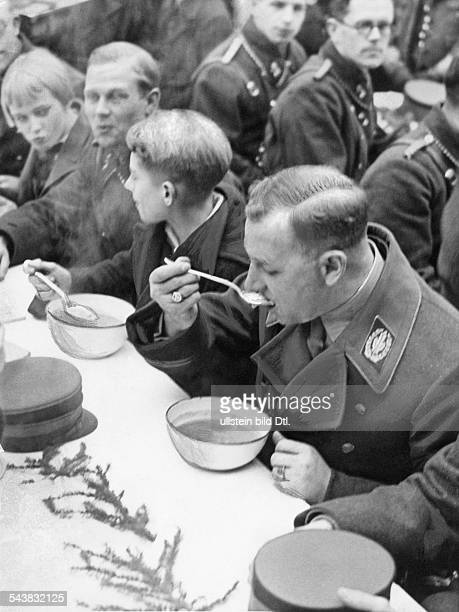 Germany Free State Prussia Berlin Berlin Lutze Viktor Officer SAcommander Germany *28121890Chief of staff Lutze eating stew in the Townhall...