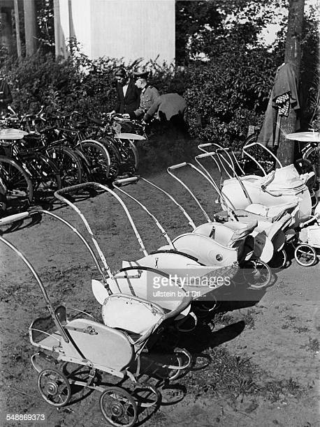 Germany Free State Prussia Berlin Berlin parking prams and bicycles 1943 Photographer Usa Borchert Published by 'Signal' 17/1943 Vintage property of...