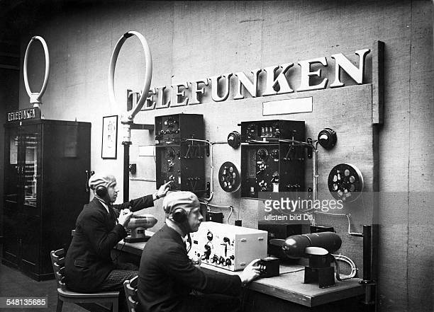 Germany Free State Prussia Berlin Berlin The second Große Deutsche Funkausstellung transmitters receive terminal and radio direction finder presented...