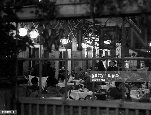 Germany Free State Prussia Berlin Berlin The terrace of the Cafe Wien in the Kurfuerstenstrasse ca 1938 Photographer Heinz von Perckhammer Vintage...