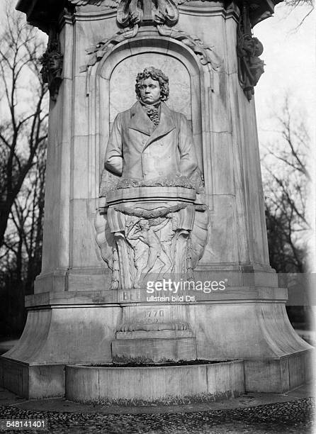 Germany Free State Prussia Berlin Berlin View at the monument of the composer Ludwig van Beethoven ca 1920 Photographer Walter Gircke Vintage...
