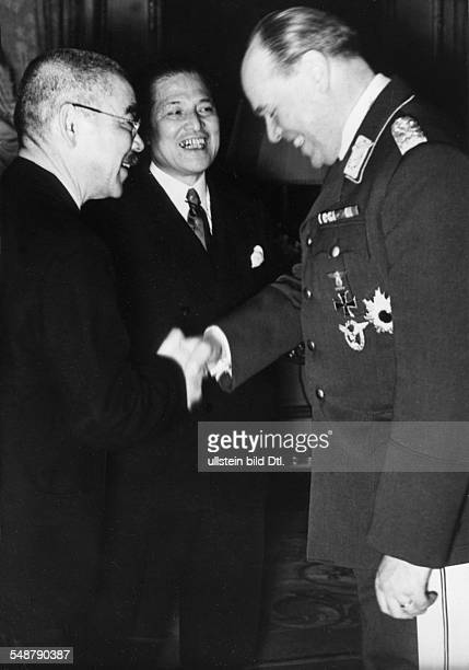 Germany Free State Prussia Berlin : German-Japanese Alliance in WW II Reception of the Japanese foreign minister Matsuoka in the Japanese embassy,...