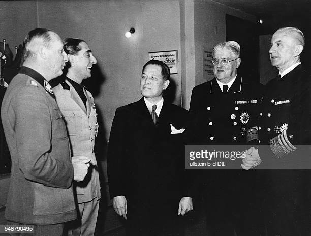 Germany Free State Prussia Berlin : Tripartite Pact After a ceremony to mark the 2nd anniversary of the Pact in the ministry of labour: Admiral...
