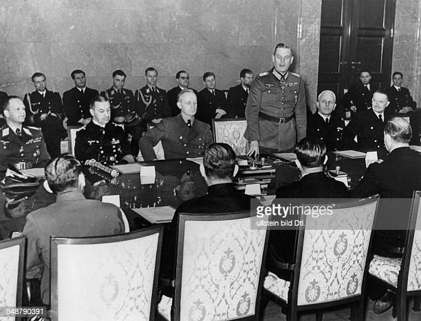 Germany Free State Prussia Berlin Tripartite Pact Meeting of representatives of the signatories after the entry into the war of the USA and Japan...