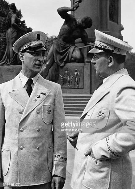 Germany Free State Prussia Brandenburg Province Berlin: The new uniforms of the guide services of the nazi organisation 'Kraft durch Freude' for the...