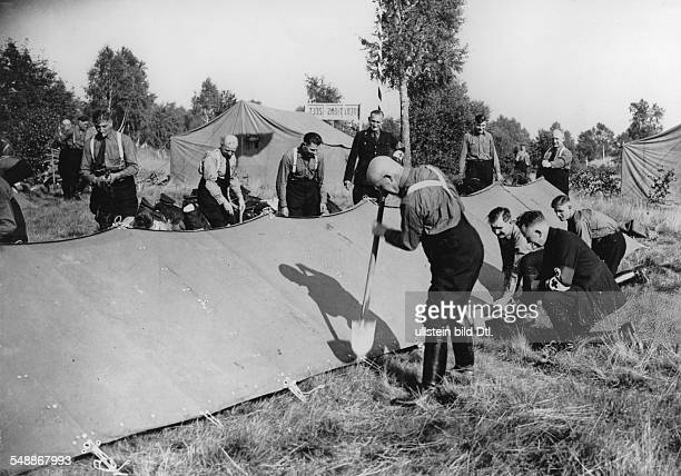 Germany Free State Prussia Brandenburg Province First SSappeal of the group East in Berlin 11th13th August 1933 putting up the camp in Doeberitz 1933...