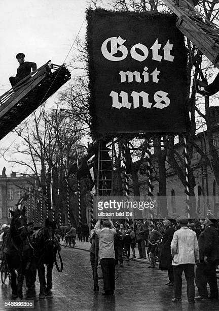 Germany Free State Prussia Brandenburg Province Potsdam Third Reich opening of the Reichstag ' Day of Potsdam ' Decorating the streets on the eve of...