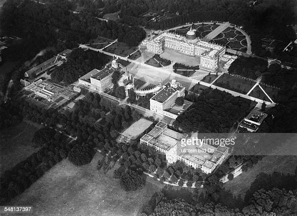 Germany Free State Prussia Brandenburg Province Potsdam View on the Neues Palais and the Communs in the Park of Sanssouci ca 1920 Photographer Walter...