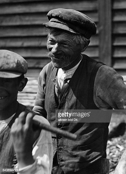 Germany Free State Prussia East Prussia Province Masuria farmer in beggarly clothing 1933 Photographer Seidenstuecker Published by 'Berliner...