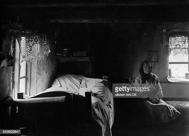 Germany Free State Prussia East Prussia Province Masuria old woman in a room of a house 1934 Photographer SeidenstueckerVintage property of ullstein...