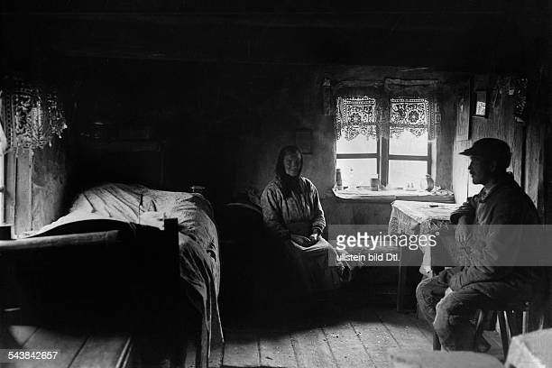 Germany Free State Prussia East Prussia Province Masuria the parish envoy and his elderly mother in a room of their house 1933 Photographer...