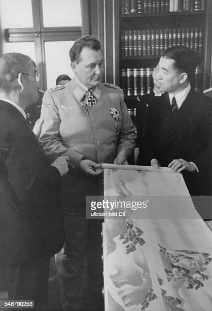 Germany Free State Prussia GermanJapanese Alliance in WW II Japanese foreign minister Matsuoka paying a visit to Hermann Göring CommanderinChief of...