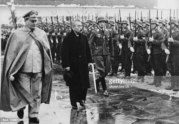 Germany Free State Prussia Japanese foreign minister Matsuoka paying a visit to Nazi leader Hermann Göring at Carinhall near Berlin 1941 Vintage...