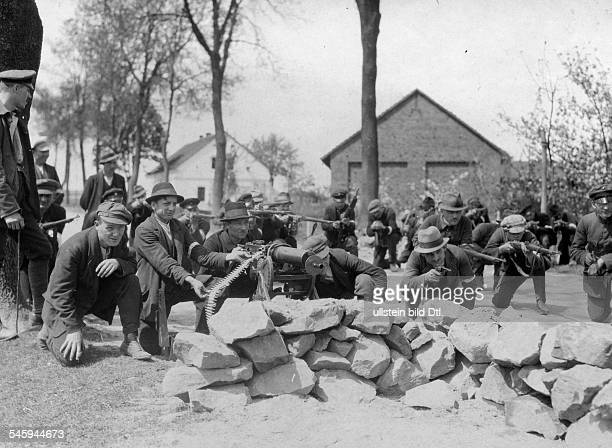 Germany Free State Prussia Province of Upper Silesia The consequences of the Treaty of Versailles Silesian Uprising 1921 Polish militia Members of...