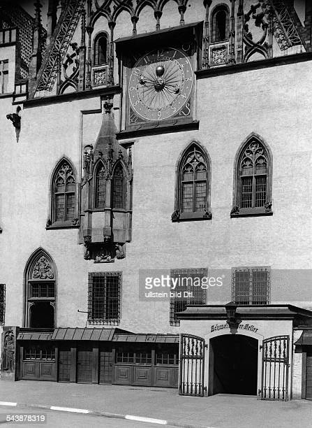 Germany Free State Prussia Silesia province Breslau City Hall east side of the entrance to the Schweidnitzer Keller undated Photographer Frankl...
