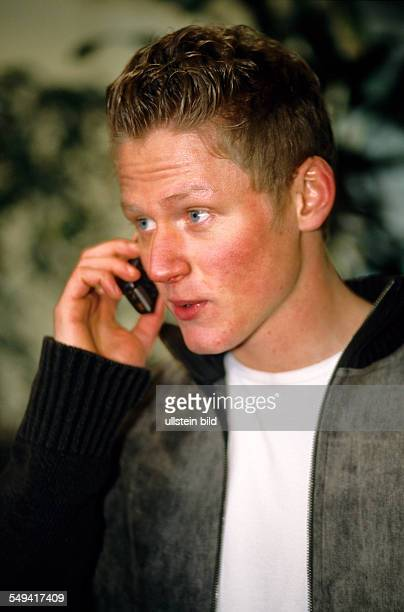 Free time Portrait of a young man he is calling with his mobile phone
