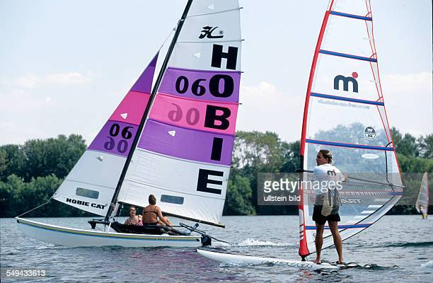 Germany: Free time.- Youth sailing and surfing.