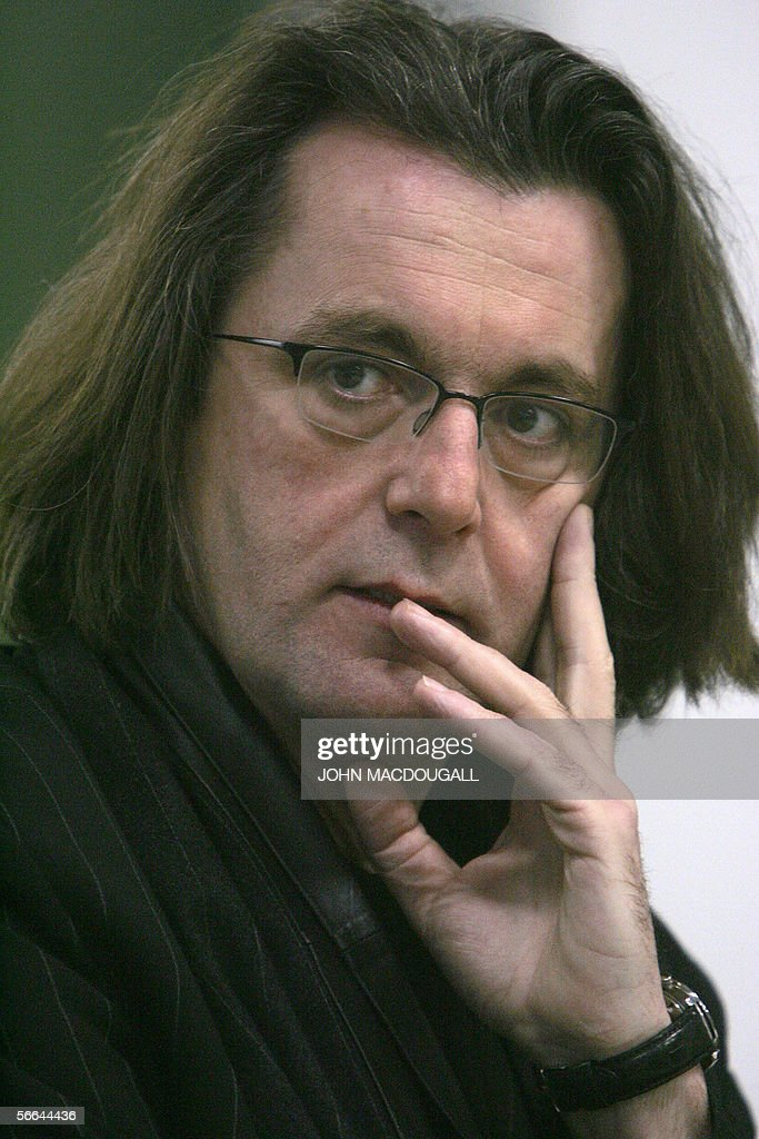 French composer Pascal Dusapin gestures : News Photo