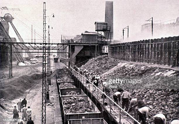 Germany French occupation of the Ruhr region, at the cokeworks of Westerholt, First coal requisitioning by way of World War I reparations, carried...