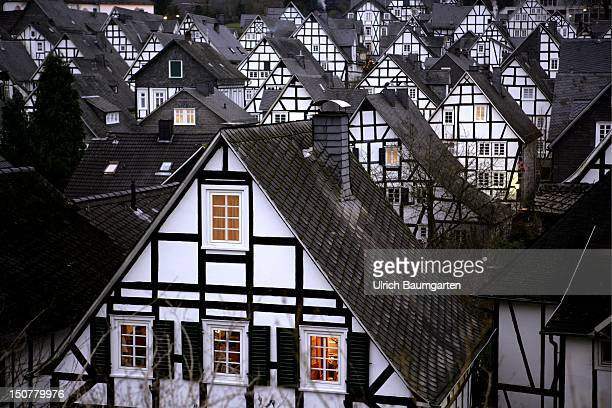 Germany Freudenberg Halftimbered houses in Freudenberg Germany