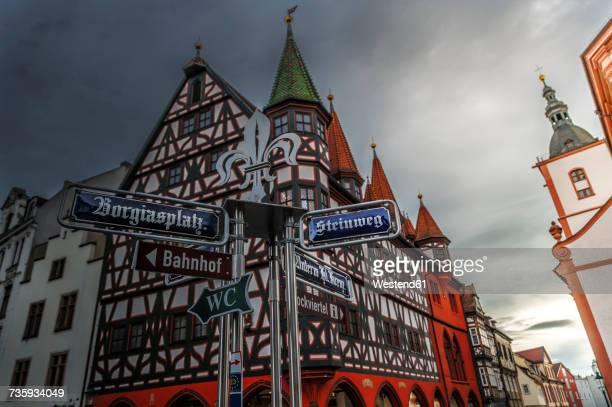 Germany, Fulda, historical timber-framed house in the Baroque quarter