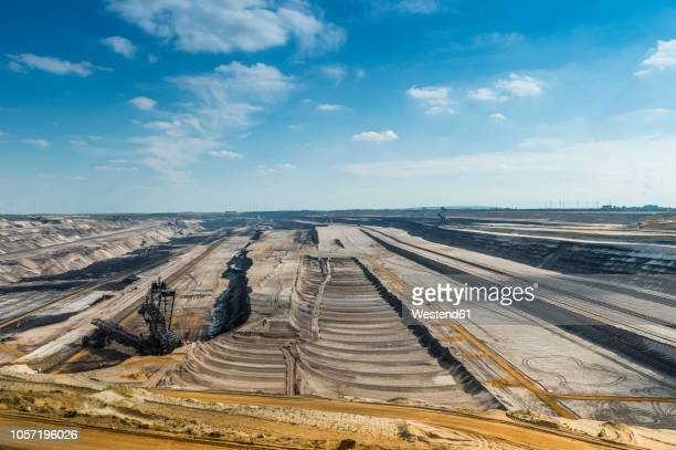Germany, Garzweiler surface mine, layers and giant excavator