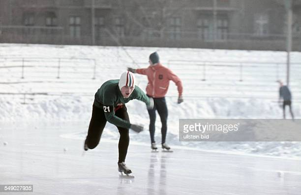 about 1971 ice speed skating An ice skater at sprinting