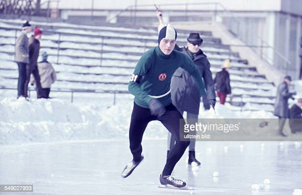 about 1971 ice speed skating An ice speed skater at the start