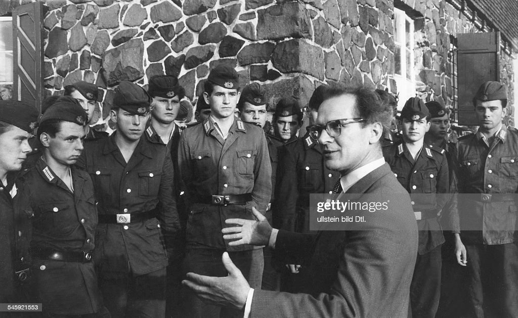 Erich Honecker Visiting East German Border Guards.