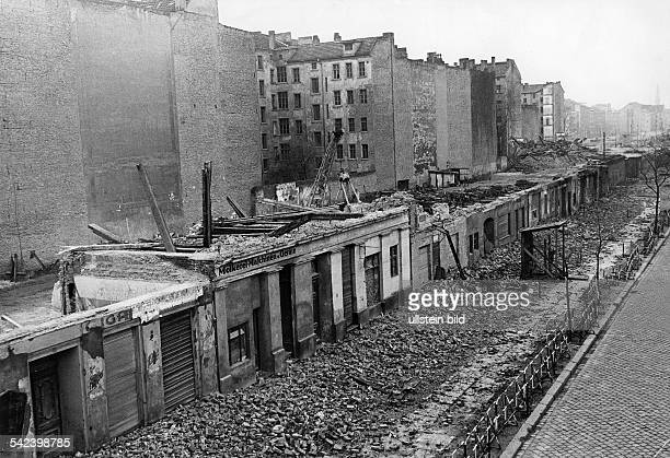 Germany / GDR Berlin Demolition of houses at the border to install a death strip Bernauer Strasse
