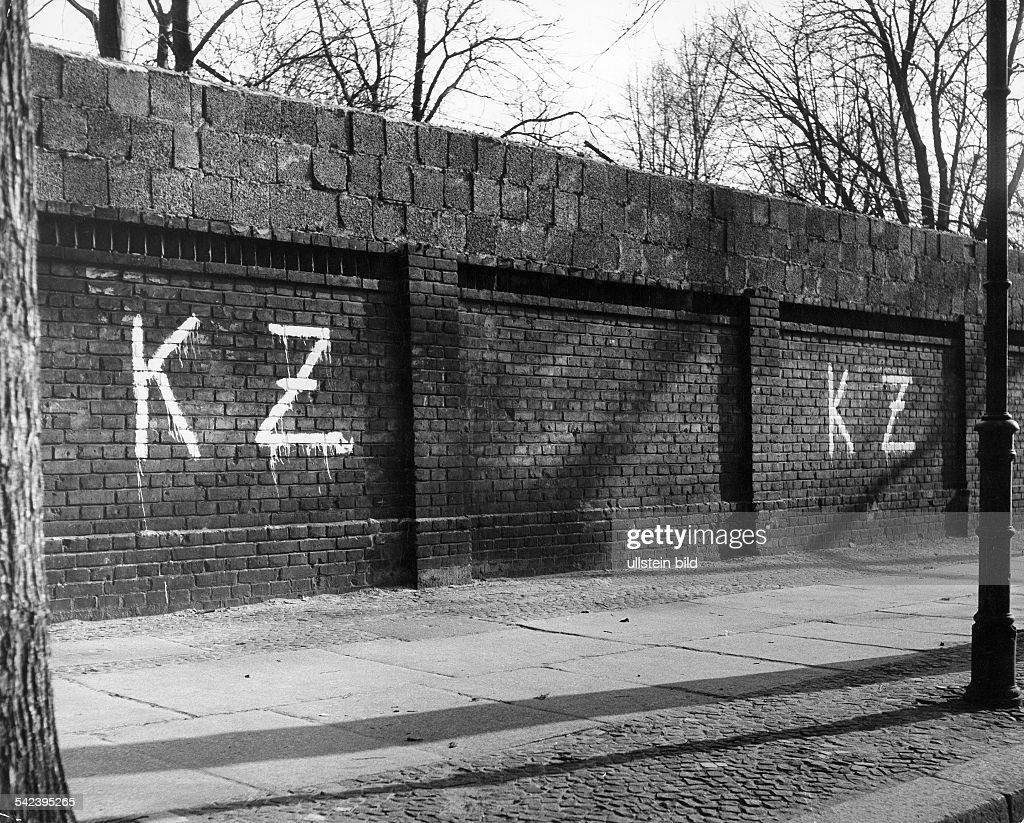 Graffiti on the wall kz concentration camp 1960s