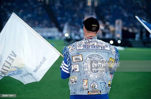 DEU Germany Gelsenkirchen Schalke 04 Arena Opening event 2001 fanatics in the arena