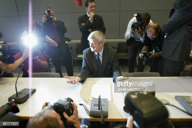 German Foreign Minister and the Greens Party highestprofile member Joschka Fischer waits for the beginning of a meeting with his parliamentary group...