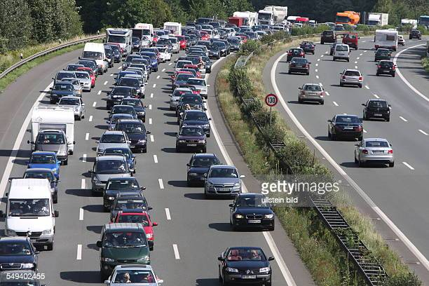 Germany Gevelsberg Traffic on the expressway A1