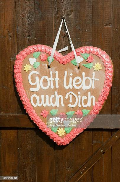 Germany, Gingerbread heart, close-up