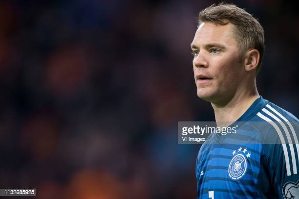 Germany goalkeeper Manuel Neuer during the UEFA EURO 2020 qualifier group C qualifying match between The Netherlands and Germany at the Johan Cruijff...