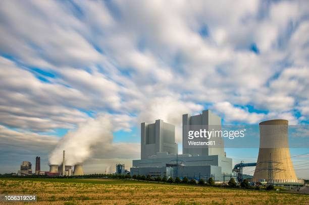 germany, grevenbroich-neurath, old and new neurath power station - north rhine westphalia stock pictures, royalty-free photos & images