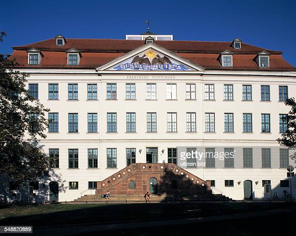 Germany Halle Saale nature reserve Lower Saale Valley SaxonyAnhalt main building of the Franckeschen Stiftungen on the Francke Square museum named...