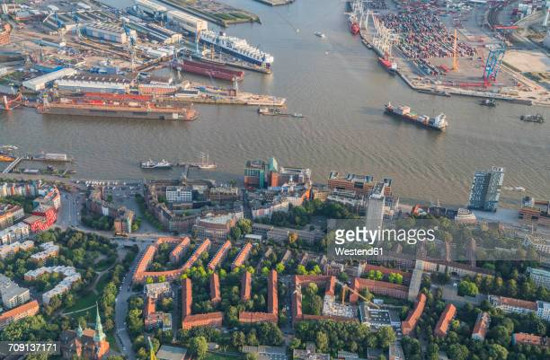 Germany, Hamburg, aerial view of Altona