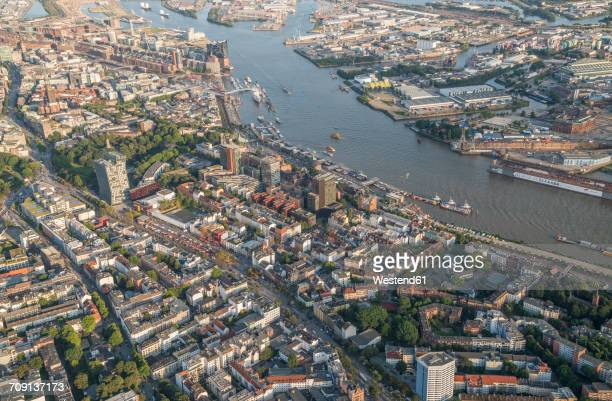 Germany, Hamburg, aerial view of St. Pauli
