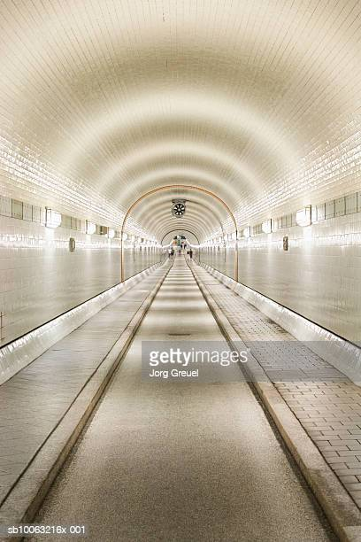 Germany, Hamburg, Alter Elbtunnel (Tunnel under Elbe River)