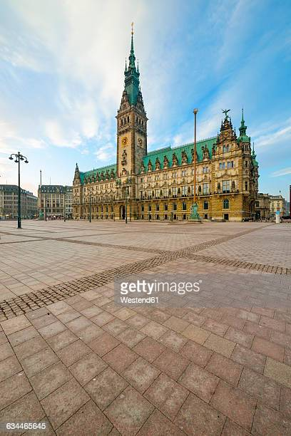 germany, hamburg, city hall in the morning - town hall stock pictures, royalty-free photos & images